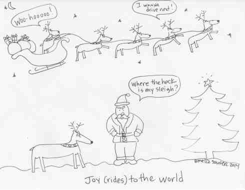 joy rides santa christmas xmas
